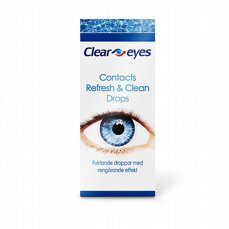 Clear Eyes Contacts Refresh & Clean, 15 ml